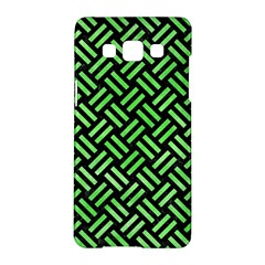 Woven2 Black Marble & Green Watercolor Samsung Galaxy A5 Hardshell Case