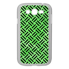 Woven2 Black Marble & Green Watercolor (r) Samsung Galaxy Grand Duos I9082 Case (white)