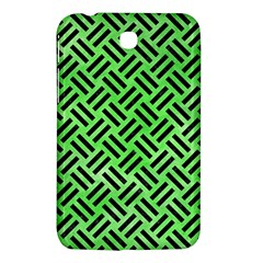 Woven2 Black Marble & Green Watercolor (r) Samsung Galaxy Tab 3 (7 ) P3200 Hardshell Case