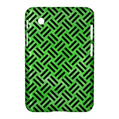 Woven2 Black Marble & Green Watercolor (r) Samsung Galaxy Tab 2 (7 ) P3100 Hardshell Case