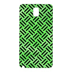 Woven2 Black Marble & Green Watercolor (r) Samsung Galaxy Note 3 N9005 Hardshell Back Case