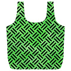 Woven2 Black Marble & Green Watercolor (r) Full Print Recycle Bags (l)