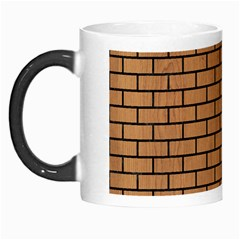 Brick1 Black Marble & Light Maple Wood (r) Morph Mugs