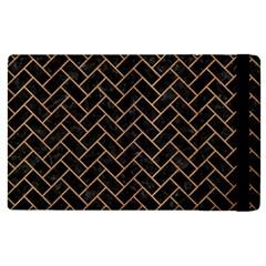 Brick2 Black Marble & Light Maple Wood Apple Ipad 2 Flip Case