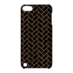 Brick2 Black Marble & Light Maple Wood Apple Ipod Touch 5 Hardshell Case With Stand