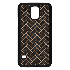Brick2 Black Marble & Light Maple Wood Samsung Galaxy S5 Case (black)