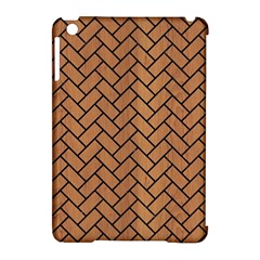 Brick2 Black Marble & Light Maple Wood (r) Apple Ipad Mini Hardshell Case (compatible With Smart Cover)