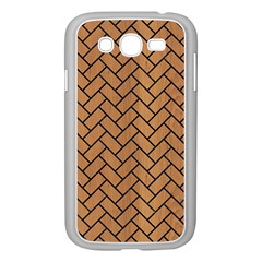 Brick2 Black Marble & Light Maple Wood (r) Samsung Galaxy Grand Duos I9082 Case (white)