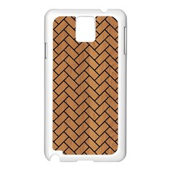 Brick2 Black Marble & Light Maple Wood (r) Samsung Galaxy Note 3 N9005 Case (white)