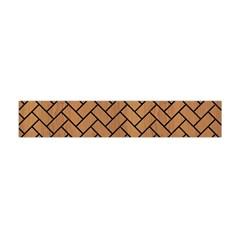Brick2 Black Marble & Light Maple Wood (r) Flano Scarf (mini)