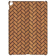 Brick2 Black Marble & Light Maple Wood (r) Apple Ipad Pro 12 9   Hardshell Case