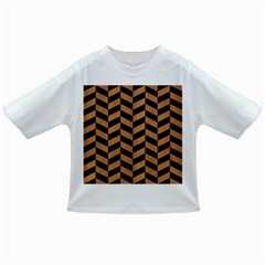 Chevron1 Black Marble & Light Maple Wood Infant/toddler T Shirts