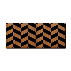 Chevron1 Black Marble & Light Maple Wood Cosmetic Storage Cases
