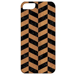 Chevron1 Black Marble & Light Maple Wood Apple Iphone 5 Classic Hardshell Case