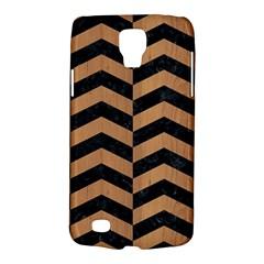 Chevron2 Black Marble & Light Maple Wood Galaxy S4 Active