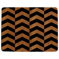 Chevron2 Black Marble & Light Maple Wood Jigsaw Puzzle Photo Stand (rectangular)