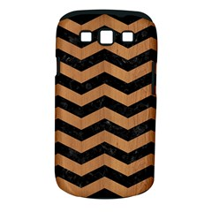 Chevron3 Black Marble & Light Maple Wood Samsung Galaxy S Iii Classic Hardshell Case (pc+silicone)