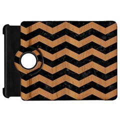 Chevron3 Black Marble & Light Maple Wood Kindle Fire Hd 7