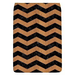 Chevron3 Black Marble & Light Maple Wood Flap Covers (s)