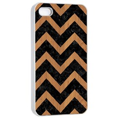 Chevron9 Black Marble & Light Maple Wood Apple Iphone 4/4s Seamless Case (white)