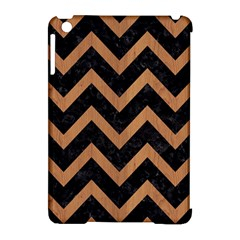 Chevron9 Black Marble & Light Maple Wood Apple Ipad Mini Hardshell Case (compatible With Smart Cover)