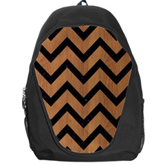 Chevron9 Black Marble & Light Maple Wood (r) Backpack Bag