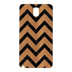 Chevron9 Black Marble & Light Maple Wood (r) Samsung Galaxy Note 3 N9005 Hardshell Back Case
