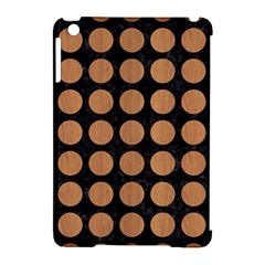 Circles1 Black Marble & Light Maple Wood Apple Ipad Mini Hardshell Case (compatible With Smart Cover)