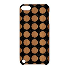 Circles1 Black Marble & Light Maple Wood Apple Ipod Touch 5 Hardshell Case With Stand