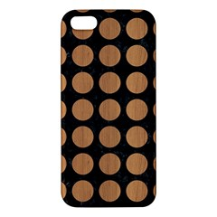 Circles1 Black Marble & Light Maple Wood Apple Iphone 5 Premium Hardshell Case