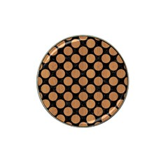 Circles2 Black Marble & Light Maple Wood Hat Clip Ball Marker