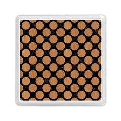 Circles2 Black Marble & Light Maple Wood Memory Card Reader (square)