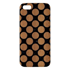 Circles2 Black Marble & Light Maple Wood Apple Iphone 5 Premium Hardshell Case