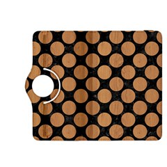 Circles2 Black Marble & Light Maple Wood Kindle Fire Hdx 8 9  Flip 360 Case