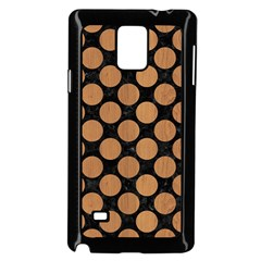 Circles2 Black Marble & Light Maple Wood Samsung Galaxy Note 4 Case (black)
