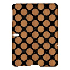 Circles2 Black Marble & Light Maple Wood Samsung Galaxy Tab S (10 5 ) Hardshell Case