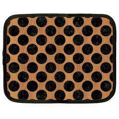 Circles2 Black Marble & Light Maple Wood (r) Netbook Case (xxl)