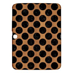 Circles2 Black Marble & Light Maple Wood (r) Samsung Galaxy Tab 3 (10 1 ) P5200 Hardshell Case