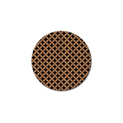 Circles3 Black Marble & Light Maple Wood Golf Ball Marker