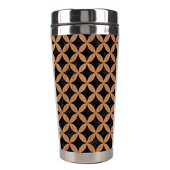 Circles3 Black Marble & Light Maple Wood Stainless Steel Travel Tumblers