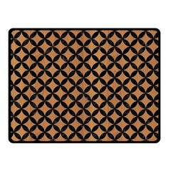 Circles3 Black Marble & Light Maple Wood (r) Double Sided Fleece Blanket (small)