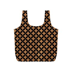Circles3 Black Marble & Light Maple Wood (r) Full Print Recycle Bags (s)