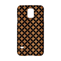 Circles3 Black Marble & Light Maple Wood (r) Samsung Galaxy S5 Hardshell Case