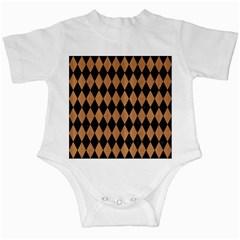 Diamond1 Black Marble & Light Maple Wood Infant Creepers