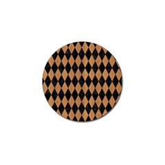 Diamond1 Black Marble & Light Maple Wood Golf Ball Marker