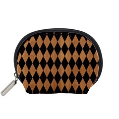 Diamond1 Black Marble & Light Maple Wood Accessory Pouches (small)