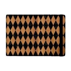 Diamond1 Black Marble & Light Maple Wood Ipad Mini 2 Flip Cases