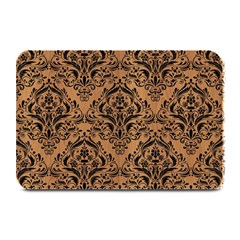 Damask1 Black Marble & Light Maple Wood (r) Plate Mats