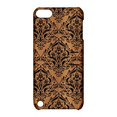 Damask1 Black Marble & Light Maple Wood (r) Apple Ipod Touch 5 Hardshell Case With Stand