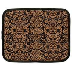 Damask2 Black Marble & Light Maple Wood Netbook Case (xxl)